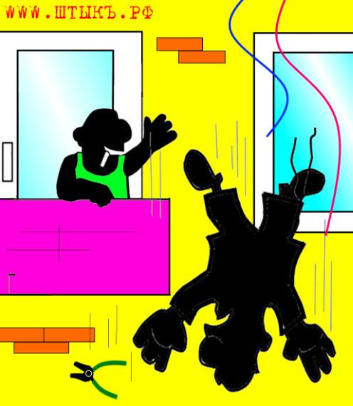 Анекдот про мужика и крышу