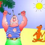 Анекдот-карикатура про десантника