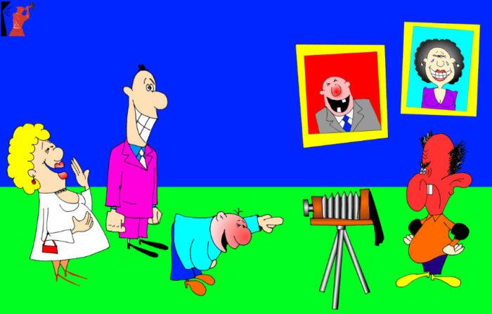 Веселая карикатура-анекдот про фотографа