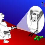 Веселый анекдот в смешной карикатуре