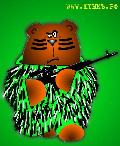 Анекдот в карикатурах про медведя