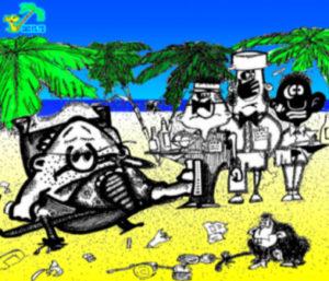 Веселая карикатура-прикольный афоризм про Родину