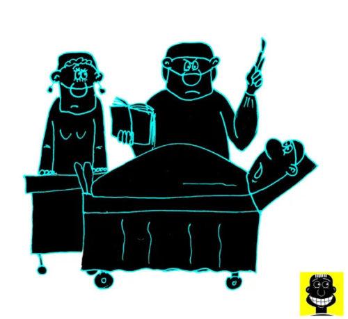 Карикатура. Анекдот про хирурга