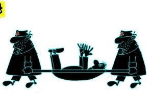 Миниатюра-Анекдот про санитаров и больного без бирки