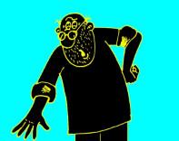 Карикатура на мужика, который всех достал