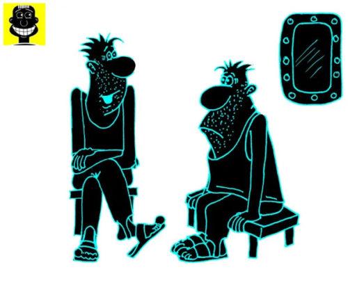 Анекдот за жизнь: Таких не берут в билетеры! Карикатура