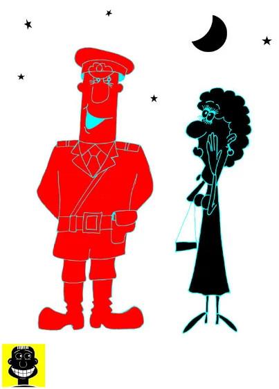 prikolnyi anekdot pro milicionera i chudisce lesnoe karikatura Оптимизм, Женщина, Блондинка, Короткие анекдоты