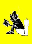 Анекдот про неудачника-бумагомараку. Миниатюра