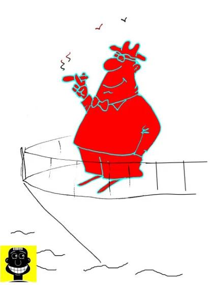 Анекдот про генерала-миллионера. Карикатура
