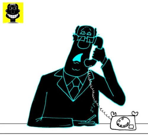 Карикатура. Анекдот про генерала-миллионера и полковника