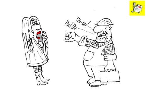 Анекдот про женщин и животных. Карикатура