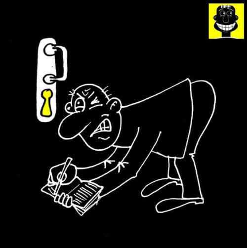 Анекдот про шпионаж. Карикатура