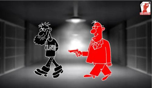 Анекдот-сатира: Скажи, родной, чем мешал тебе советский строй? Карикатура