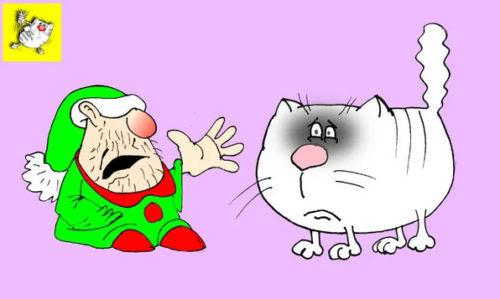 Анекдот про драку с гномами. Карикатура