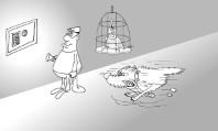 Бородатый анекдот про птичку . Миниатюра