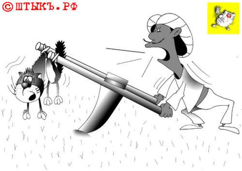 Анекдот: Священные животные - есть или не есть?Карикатура