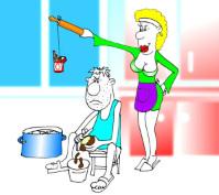Анекдот о семье: Как сварить борщ за понюшку табака. Миниатюра