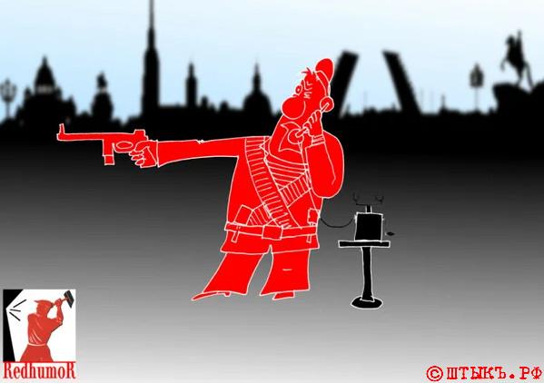 Советский анекдот: Мы - классные матросы. Карикатура