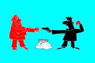 Анекдот про грабеж. Миниатюра