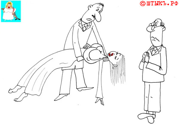 Анекдот про женщин: Сердце красавицы. Карикатура