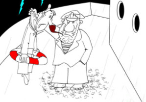 Анекдот про старпома. Миниатюра