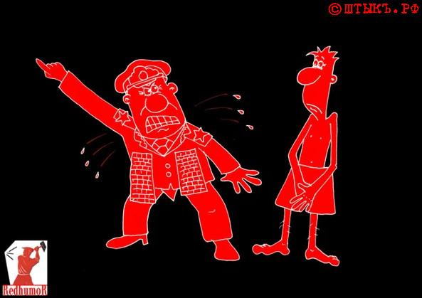 Армейские анекдоты: Про генерала с боевой фантазией. Карикатура