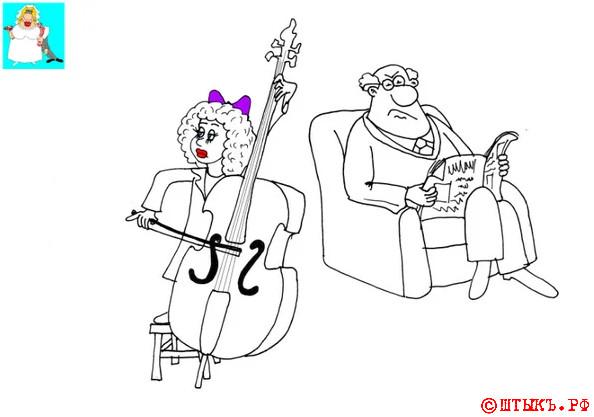 Анекдот про отсутствие мата. Карикатура