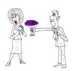 Анекдот про цветы не для жены. Миниатюра