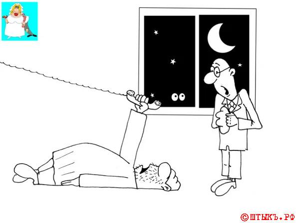 Когда в морге нет местов. Карикатура