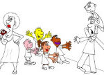 Анекдот про молодую семью. Миниатюра