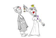 Анекдот про мужа и наивную жену. Миниатюра