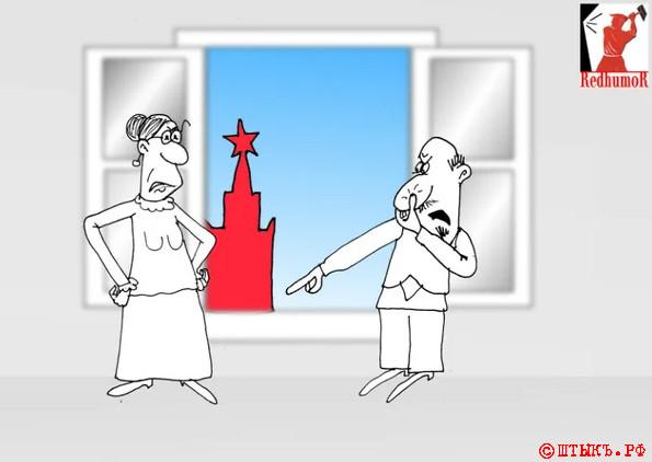 Убойные анекдоты про СССР. Карикатура