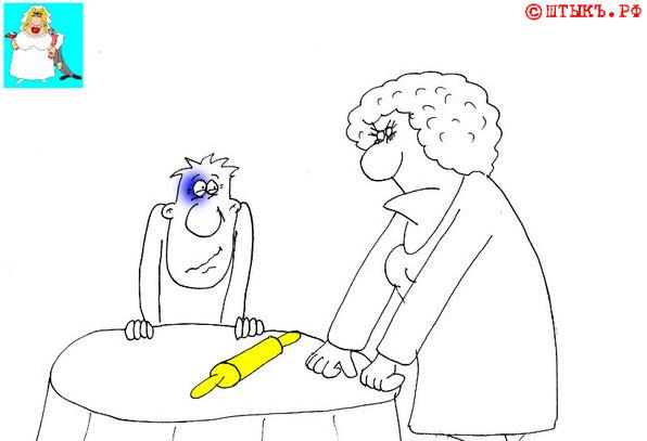 Ужин при лещах. Карикатура