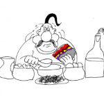 Самый свежий анекдот о вкусной и здоровой пище. Миниатюра