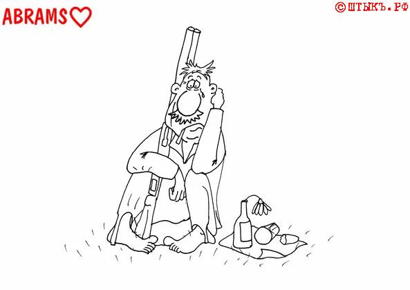 Анекдот про редкого выдумщика. Карикатура