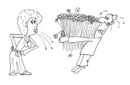 Анекдоты про мужа и жену с букетом
