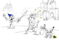 Анекдот про подарки и коня. Миниатюра
