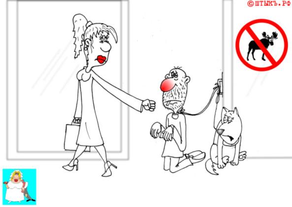 Анекдоты про семью: Муж . карикатура