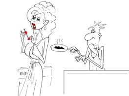 Анекдот про мужа и жену. Миниатюра