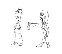 Короткий семейный анекдот про спор. Миниатюра