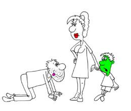 Анекдот про семейную жизнь и детей. Миниатюра