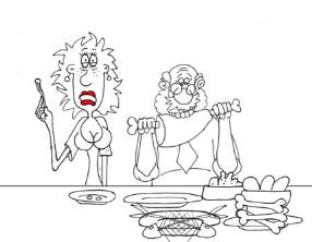 Свадебный анекдот. Карикатура на деда. Миниатюра