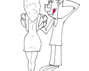 Прикольный анекдот с карикатурой про женщину