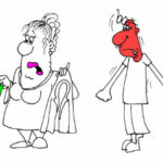 Веселый анекдот с картинкой про женскую систему мер. Карикатуры