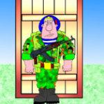 Десантник на выставке. Армия