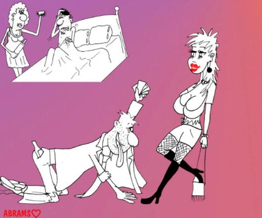 В постели не всегда жена нужна. Взрослые анекдоты